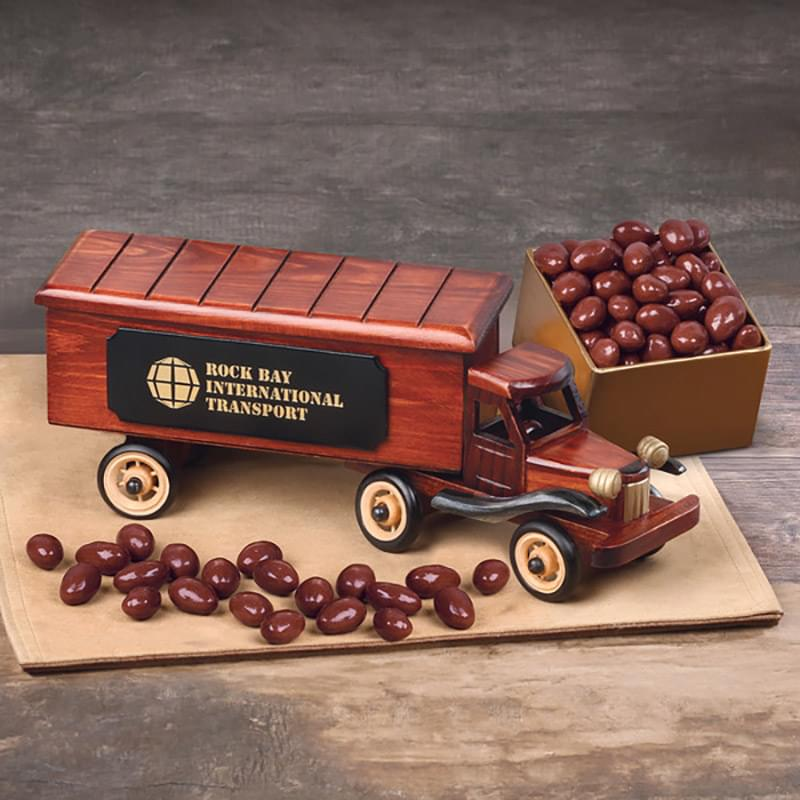 1940-Era Tractor-Trailer Truck with Chocolate Covered Almonds