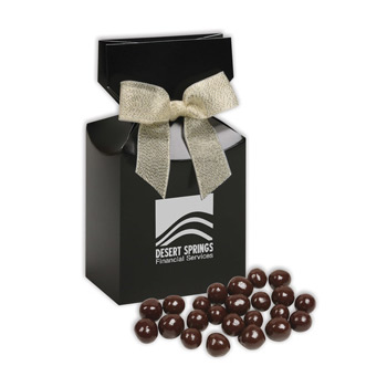 Barrel-Aged Bourbon Cordials in Black Premium Delights Gift Box