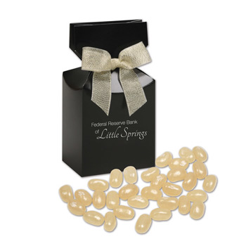 Champagne Jelly Belly® Jelly Beans in Black Premium Delights Gift Box