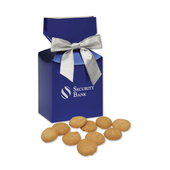 Bite-Sized Snickerdoodle Crisp Cookies in Blue Premium Delights Gift Box