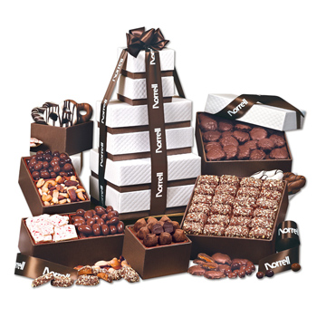 "Brown ""Park Avenue"" Ultimate Tower of Treats"