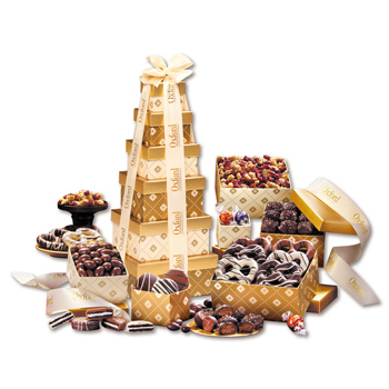 Golden Delights Tower of Sweets!