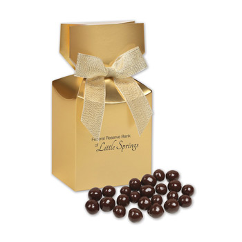 Barrel-Aged Bourbon Cordials in Gold Premium Delights Gift Box