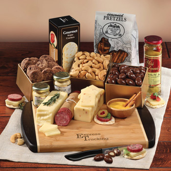 Java Bamboo Board with Gourmet Shelf-Stable Selections