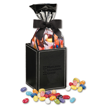 Faux Leather Pen & Pencil Cup with JELLY BELLY® Jelly Beans