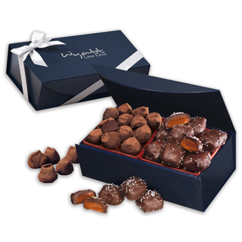 Chocolate Sea Salt Caramels & Cocoa Dusted Truffles
