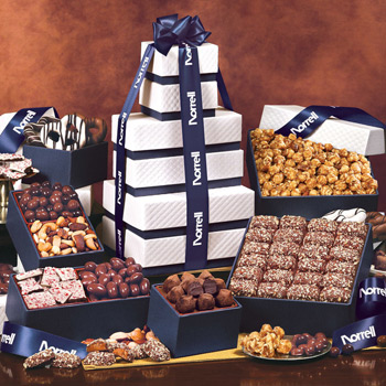 "The ""Park Avenue"" Ultimate Tower of Treats in Navy"