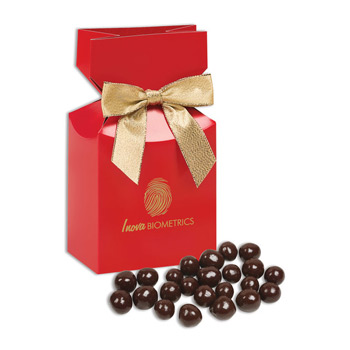 Barrel-Aged Bourbon Cordials in Red Premium Delights Gift Box