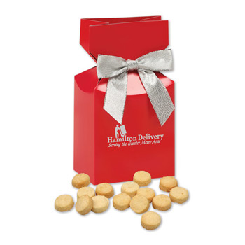 Bite-Sized Lemon Meringue Cookies in Red Premium Delights Gift Box