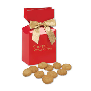 Bite-Sized Snickerdoodle Crisp Cookies in Red Premium Delights Gift Box