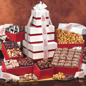 "The ""Park Avenue"" Ultimate Tower of Treats in Red"