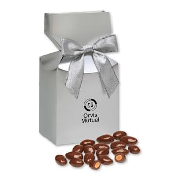 Milk Chocolate Covered Almonds Silver in Premium Delights Gift Box