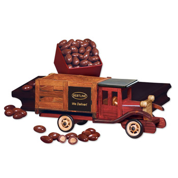Classic Wooden 1925 Stake Truck with Chocolate Almonds