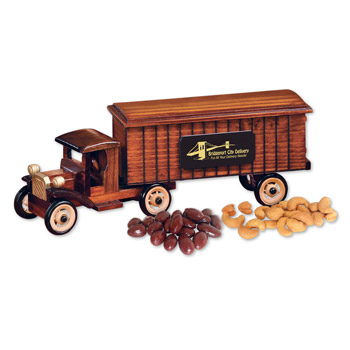 1930-Era Tractor-Trailer Truck with Chocolate Covered Almonds & Extra Fancy Jumbo Cashews