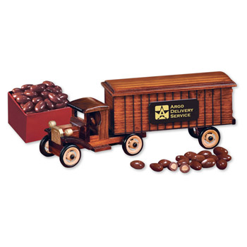 1930-Era Tractor-Trailer Truck with Chocolate Covered Almonds