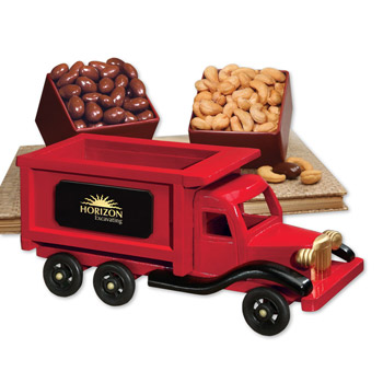 1950-Era Dump Truck with Chocolate Almonds & Extra Fancy Jumbo Cashews