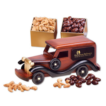 1930-Era Delivery Van with Chocolate Almonds & Extra Fancy Jumbo Cashews